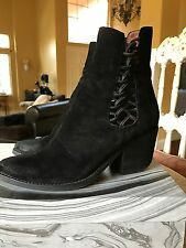 Jeffrey Campbell Dubois Suede Black Bootie. Sold Out. 7.5 Stacked Heel