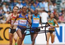 ATHLETICS: GUDAF TSEGAY SIGNED 6x4 ACTION PHOTO+COA *ETHIOPIA*