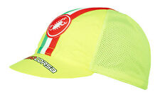 CASTELLI PERFORMANCE LIGHTWEIGHT CYCLING CAP : FLUO YELLOW