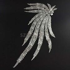 1pcs Peacock Applique Embroidered Lace Fabric Bridal Appliques Sewing Craft