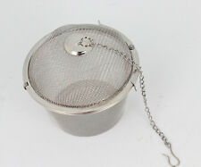 New Reusable Tea Ball Spice Strainer Mesh Infuser Filter Stainless Steel Herbal
