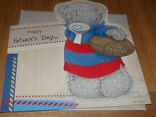 "Me to you... ""happy father's day..."" mignon de rugby aux couleurs de carte-voir photo"
