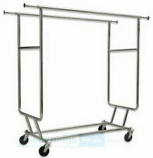 SALE! - Garment Clothes Rack Hanger Holder - Double Salesman Rack RACK-RCS2