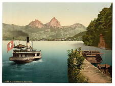 Treib And Mythen Lake Lucerne A4 Photo Print