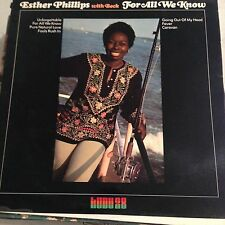 Esther Phillips-For All We Know-LP-With Beck-Kudu-KU 28-Vinyl Record