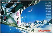Publicité Advertising 1988 (2 pages) Les Chaussures de skis Salomon