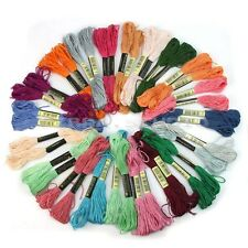 Colorful Cotton Cross Stitch Pearl Embroidery Skein Floss Sewing Thread 50 Pcs