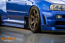 Nissan Skyline R34 Carbon Fiber Aero Side Diverters for Performance, Side Skirts