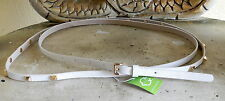 C WONDER NWT $48 Sz M White Gold Stud Double Wrap Skinny Belt
