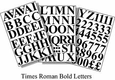 96 x1 inch(25mm) TIMES ROMAN LETTERS AND NUMBERS VINYL BLACK SELF ADHESIVE DIY