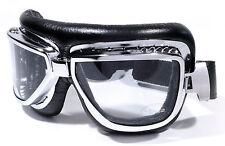 Gafas Para Moto Google De Esquí Piloto Cromo Deportivas Cabrio