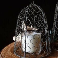 Vintage Rustic Barn Roof Finish Chicken Wire Cloche 10 inches for Event Decor