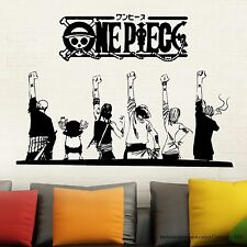 Onepiece Japanese Anime Wall Decal Sticker Friendship Modern Sticker Vinyl Decal