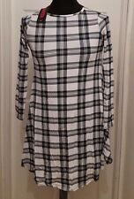 NEW Missi London Pyramid Shirt Dress Black/White Check - M/L