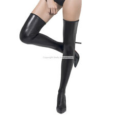 PVC LOOK  stockings shiny wet look sexy black