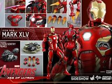 Hot Toys Iron Man Mark XLV 45 Diecast 1/6 Scale Figure Avengers Ultron MINT Orig