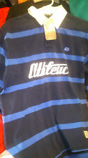 NIKE RUGBY TOPS LEISURE medium 38/40AT £16 navy/blue/ cotton nike athlectic
