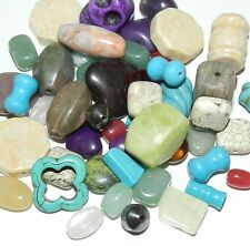 NG1614 Assorted Color Shape & Size (4-25mm) Mixed Gemstone Beads 50-Grams
