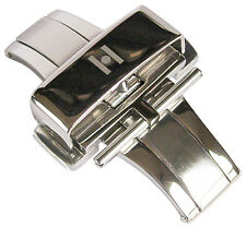 18mm Hirsch Stainless Steel Silver Butterfly Pusher Deployant Clasp Buckle