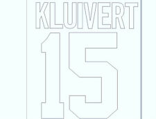 1994-1995 Kluivert 15 Home Ajax Football Name set for National shirt