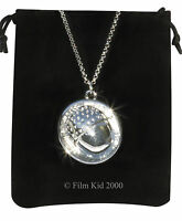 Bilbo Baggins SILVER ACORN BUTTON Necklace CHAIN Hobbit LOTR Lord Of The Rings