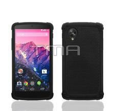 Hybrid Impact Shock Proof Rugged Shell Skin Case Cover For LG Nexus 5 - Black