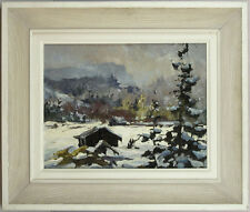 Guttorn Otto (1919-2012) Polish/Canadian Listed Oil/Panel Winter Landscape qqoo