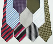 9x NEXT Silk Tie collection, Stripe, Check Red Blue