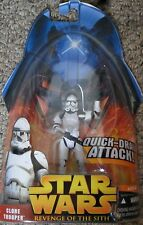 Star wars revenge of the sith-clone trooper quick draw attack action figure new