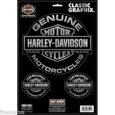 HARLEY DAVIDSON GENUINE CLING BLING 3 PIECE STICKER DECAL