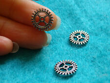 20 steampunk cog gear charms Tibetan tibet silver antique tone wholesale bulk -2