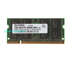 Elpida 2GB PC2-6400 DDR2-800MHz SODIMM Memory For Dell INSPIRON 6000 6400 9300