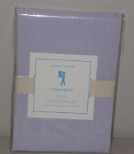 NIP Pottery Barn Kids Lavender CHAMBRAY Cotton Pillow Sham STANDARD