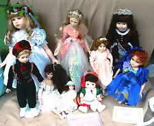 9 Collectable Porceline Dolls Fairies  91 J. DeFilippo 89 Brigitte Deval Cathay