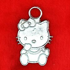6 x Tibetan Silver Hello Kitty Charm Pendant Finding Bead Jewellery Making