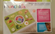 Munchkin Balanced Meal Re-usable Placemat Healthy Eating Habits 24+ Months