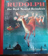Little Golden Book Rudolph The Red Nosed Reindeer Richard Scarry Red Spine LGB