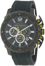 Vince Camuto Men's VC/1019DGDG The Striker Yellow Accented Grey-Ionic Plated Res