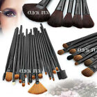 32 PCS Cosmetic Make Up Makeup Brushes Brush Set Kit Goat Hair +1 Leather Case