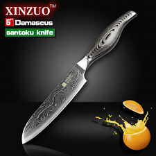 XINZUO Damascus kitchen knife 5 inch Japanese chef knife chef knife table tool