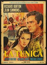 MANIFESTO, LA TUNICA The Robe BURTON, SIMMONS, CINEMASCOPE, ed. anni '60 POSTER