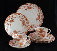 VINTAGE THOMAS MORRIS REGENT ENGLAND CHINA CAPE TEA CUPS CAKE DESSERT PLATES