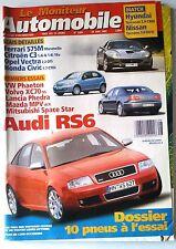 Le moniteur Automobile 20/06/2002; Essai Ferrari 575 M/ C3/ Opel Vectra/ Honda C