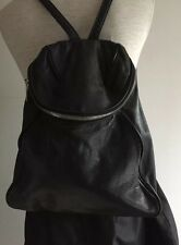 YOHJI YAMAMOTO Y'SACCS  RUNWAY BLACK LEATHER BACKPACK RUCKSACK BAG