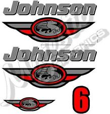 JOHNSON - 6hp - DECAL KIT - OUTBOARD DECALS