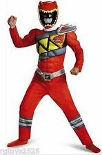 Power Rangers Dino Charge Red Ranger Muscle Costume Size 7-8 M New Medium Child