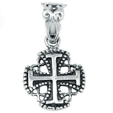 Jerusalem Cross 925 Sterling Silver Pendant Plain Design Jewelry AAASPJ2040