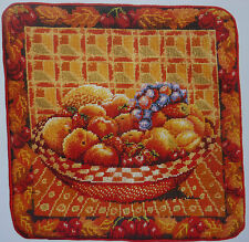 Tapestry Chart - Fruit Cushion Design Oranges Apples Grapes from Jill Gordon
