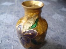 Japanese/Chinese Enamel Cloisonne Bronze Mini Vase  Vintage treasure