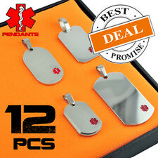 Wholesale Package 12 Pieces Stainless Steel Medical ID Pendants Only $3.46 Each